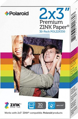 "Polaroid Zink Photo Paper 2x3"" 30 Pack For Polaroid Snap"