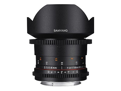 Samyang 14mm T/3.1 ED AS UMC VDSLR II Canon EF