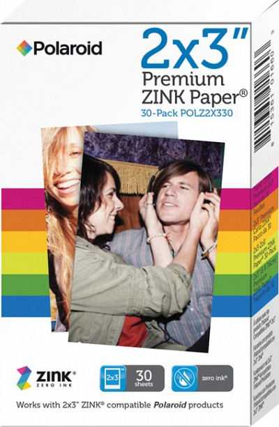 Polaroid Zink Photo Paper 2x3 30 Pack For Polaroid Snap