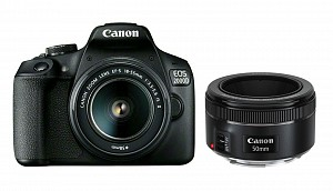 Canon EOS 2000D Kit 18-55mm IS II + 50mm f/1.8 STM