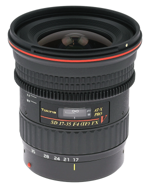 Tokina AT-X 17-35mm f/4.0 Pro FX Canon Video