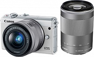 Canon EOS M100 White Kit EF-M 15-45mm + EF-M 55-200mm STM