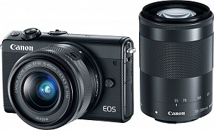 Canon EOS M100 Black Kit EF-M 15-45mm + EF-M 55-200mm STM