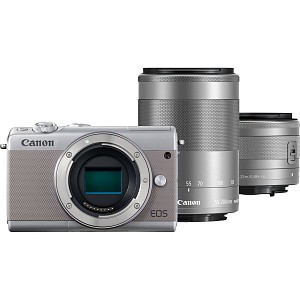 Canon EOS M100 Grey Kit EF-M 15-45mm + EF-M 55-200mm STM