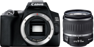 Canon EOS 250D Kit EF-S 18-55mm f/4-5.6 DC III Black
