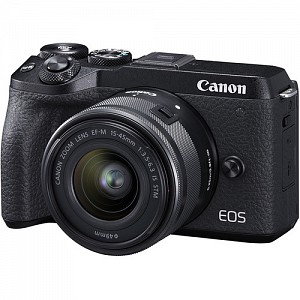 Canon EOS M6 Mark II Black Kit EF-M 15-45mm IS STM + EVF + Δώρο EF-EOS M Adapter