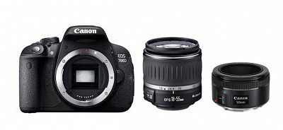 Canon EOS 700D Kit 18-55mm DC III + EF 50mm f/1.8 STM