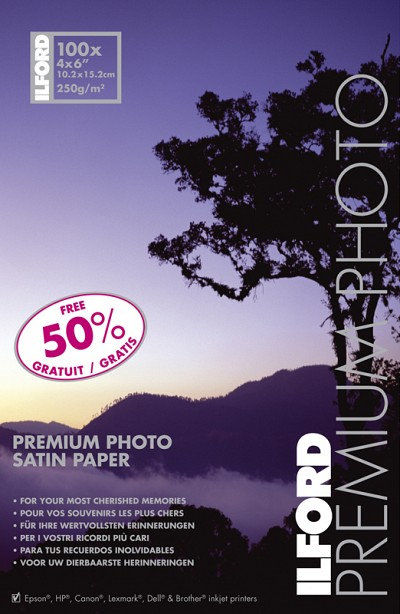 Ilford Premium Photo Paper Satin 10x15cm 250gr (100 sheets)